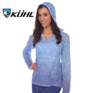 KUHL Basel Hoodie in Blue Paisley